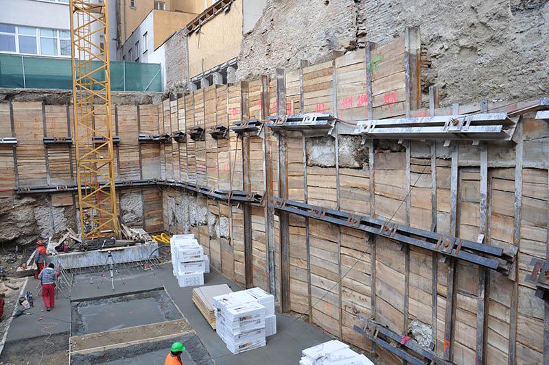 objekt paženie stavebnej jamy
